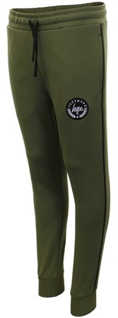 Hype Khaki/Black Crest Piping Joggers  - Click to view a larger image