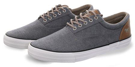 Mustang Blue Canvas Lace Up Shoe  - Click to view a larger image