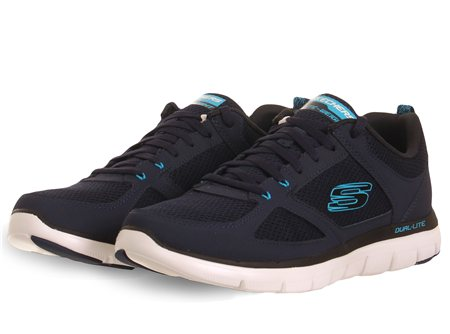 Skechers Navy Flex Advantage Trainer  - Click to view a larger image