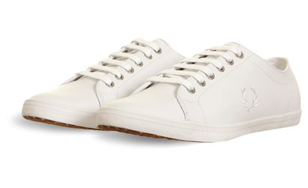Fred Perry White Lace Up Logo Trainer  - Click to view a larger image