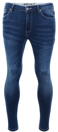 11degrees Mid Blue Denim Skinny Jean  - Click to view a larger image