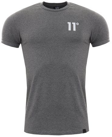11degrees Charcoal Core Muscle Fit Tee  - Click to view a larger image