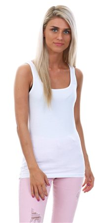 Veromoda White Maxi My Soft Vest Top  - Click to view a larger image