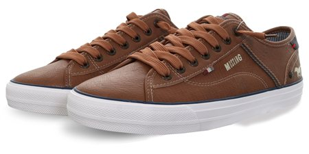 Mustang Cognac Lace Up Texture Shoe  - Click to view a larger image