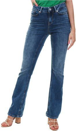 Veromoda Denim Laura Slim Flared Jean  - Click to view a larger image