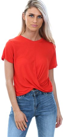 Brave Soul Fiesta Red Twist Tee  - Click to view a larger image