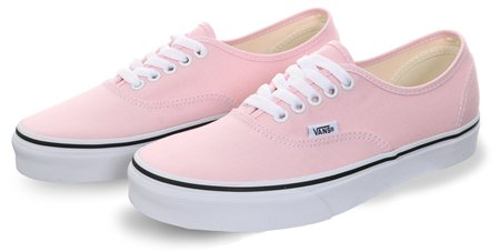 Vans Chalk Pink-True White Colour Theory Authentic Trainers  - Click to view a larger image