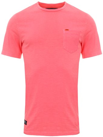 Superdry Dry Shock Pink Dry Originals Pocket T-Shirt  - Click to view a larger image