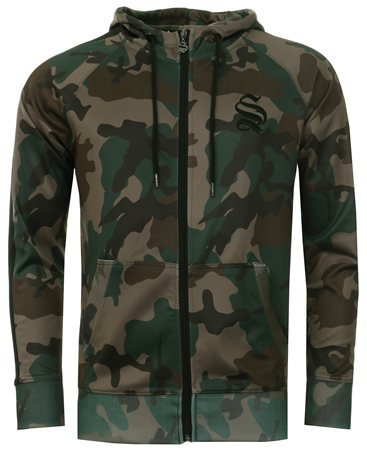 Sinners Attire Camo Poly Track Hoody  - Click to view a larger image