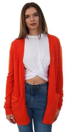 Vila Orange Com/Melange Viril Open Knit Cardi  - Click to view a larger image