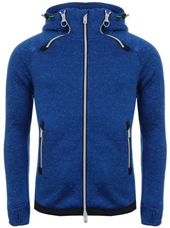 Superdry Summer Blue Marl Storm Double Ziphood  - Click to view a larger image