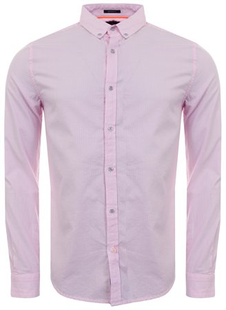 Superdry Pink Basket Stripe Premium Button Down Shirt  - Click to view a larger image