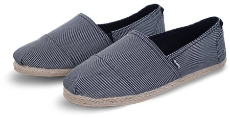 Superdry Fine Stripe Navy Jetstream Espadrilles  - Click to view a larger image