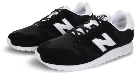 New Balance Black 520 70s Running Trainer  - Click to view a larger image