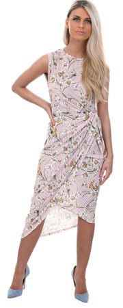 Wal/G Pink Floral Velvet Dress  - Click to view a larger image