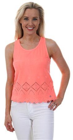 Superdry Reef Coral Pacific Broderie Tank Top  - Click to view a larger image