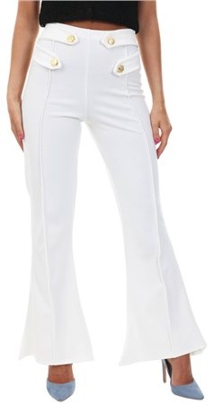 Parisian White Flared Trouser  - Click to view a larger image