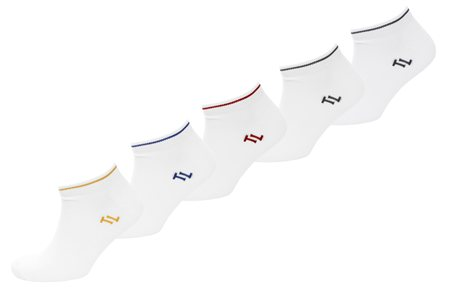 Tokyo Laundry White Larry 5 Pack Socks  - Click to view a larger image