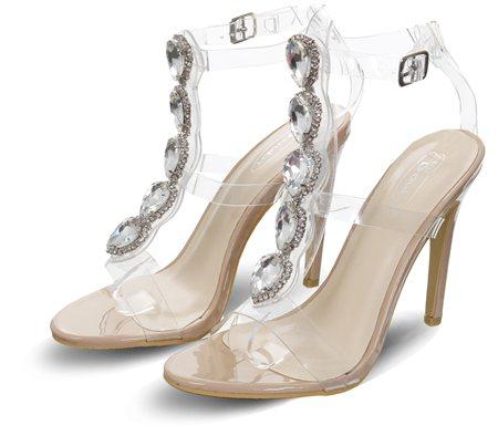 d04fa420b20 No Doubt Nude Stiletto Jewel Perspex Heels