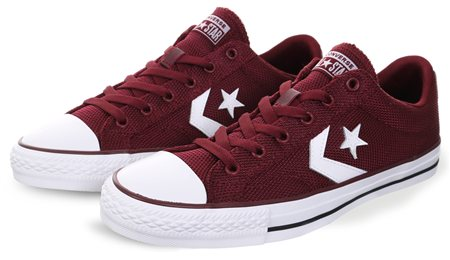 5d03e533487a Converse Dark Burgandy White One Star Player - Click to view a larger image