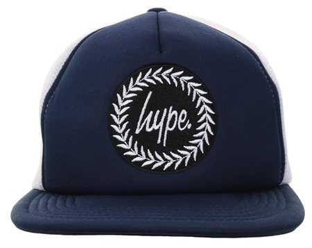 Hype Navy/White Crest Baseball Cap  - Click to view a larger image