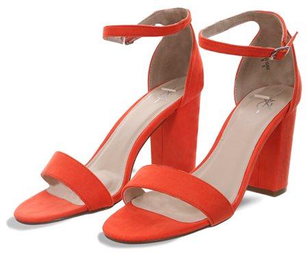 7103145cd38 4th   Reckless Orange Sarah Block Heel Shoe