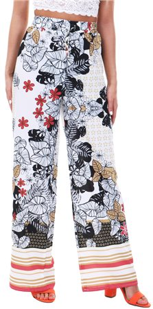 Parisian White Floral Trouser  - Click to view a larger image