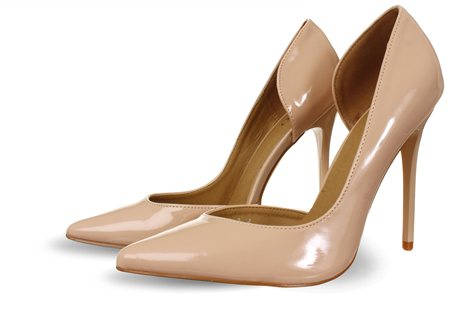 Bebo Nude Patent Cut Away Heel  - Click to view a larger image