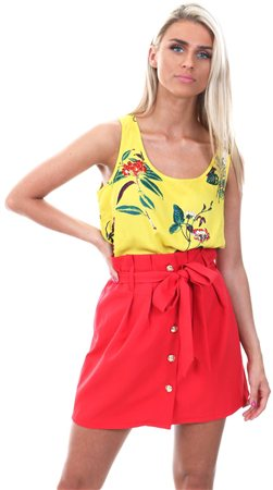 Only Yolk Yellow Nova Floral Top  - Click to view a larger image