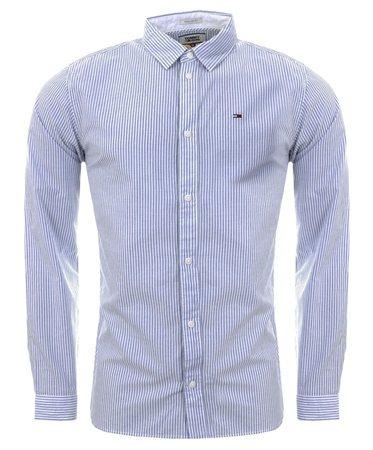 Hilfiger Denim Classic White Cotton Regular Fit Shirt  - Click to view a larger image