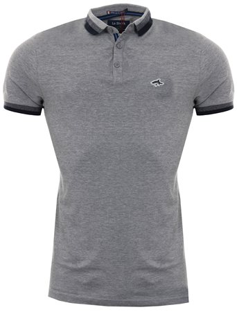 Le Shark Light Grey Marl Polo Shirt  - Click to view a larger image