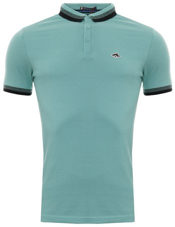 Le Shark Pastel Turquoise Polo Shirt  - Click to view a larger image