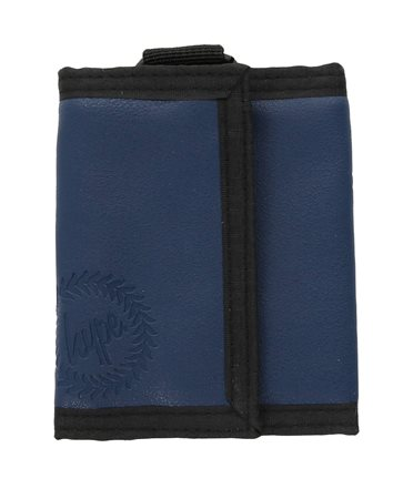 Hype Navy Embossed Crest Wallett  - Click to view a larger image