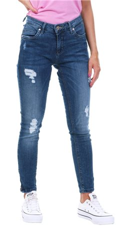 Only Medium Blue Denim Kendell Reg Fit Skinny Jean  - Click to view a larger image