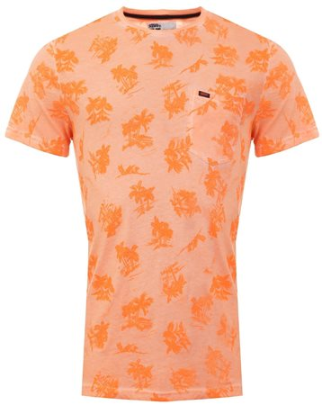 Superdry Sun Scorched Orange Whistler All Over Print Lite T-Shirt  - Click to view a larger image