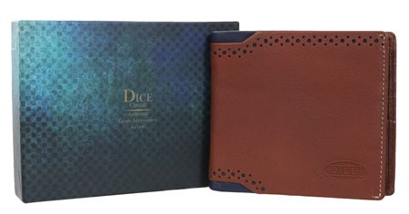 Dice Tan Flip Compartment Wallet  - Click to view a larger image