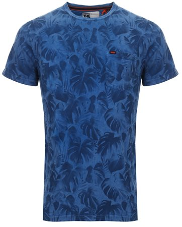 Superdry Hyper Cobalt Whistler All Over Print Lite T-Shirt  - Click to view a larger image