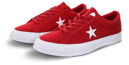 Converse Gym Red/White/Hyper Royal One Star Oxford  - Click to view a larger image