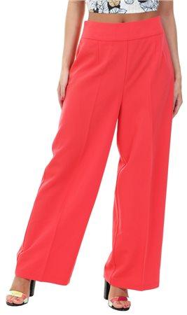 Vila Red / Tomato Puree Conella Wide Leg Trousers  - Click to view a larger image