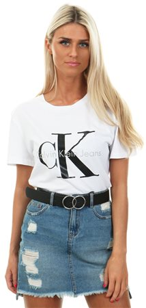 Calvin Klein Bright White Printed Logo T-Shirt - Click to view a larger  image 40ecf37fda
