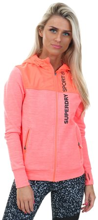 Superdry Hot Coral Sport Hybrid Jacket  - Click to view a larger image