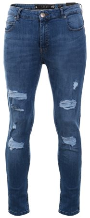 Crosshatch Light Wash Sunnyvale Ripped Skinny Jean  - Click to view a larger image