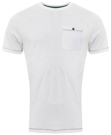Sth Shore White Short Sleeve Coco Pocket Tee  - Click to view a larger image