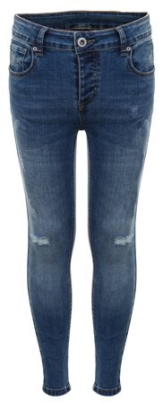 Kings Will Dream Mid Blue Romer Ripped Skinny Denim Jean  - Click to view a larger image