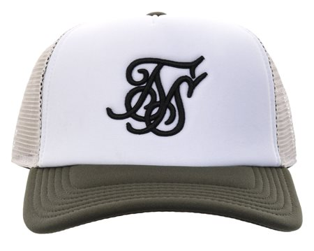 Siksilk Khaki Trucker Baseball Cap  - Click to view a larger image