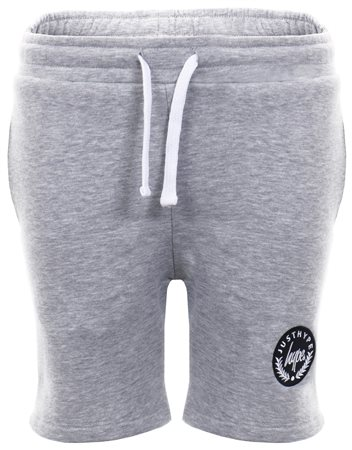 Hype Grey Basic Script Crest Shorts  - Click to view a larger image
