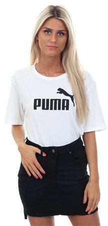 Puma Bright White Essentials Boyfriend Tee  - Click to view a larger image