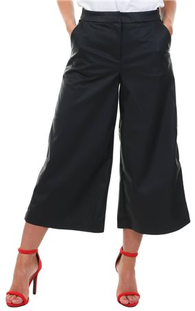Only Black Mandy Faux Leather Culotte Pant  - Click to view a larger image
