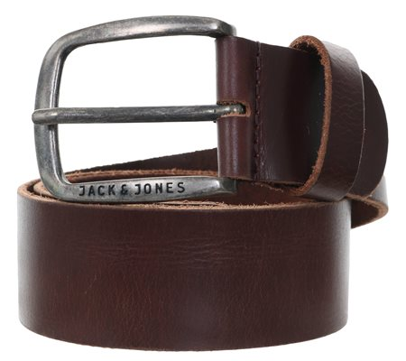 Jack & Jones Brown Jj Paul Leather Belt  - Click to view a larger image
