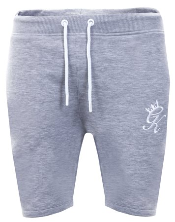 Gym King Grey Marl Jersey Shorts  - Click to view a larger image
